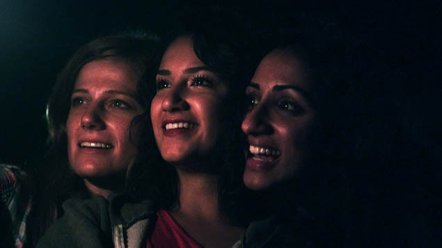 "Kandis Erickson, Nikohl Boosheri and Kiran Deol in ""Farah Goes Bang"""