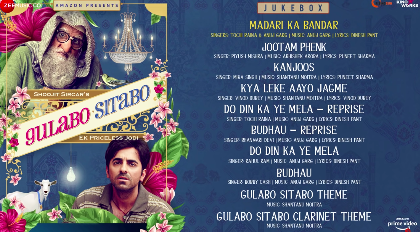 "The ""Gulabo Sitabo"" album is a sight for sore ears"